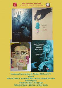 violenza sulle donne. tre murales realizzati a Palermo